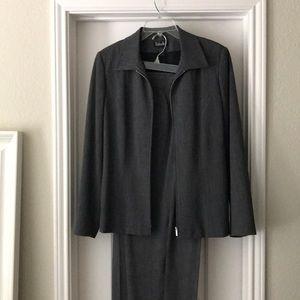Grey pant suit